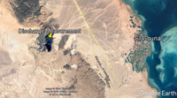 City of El Gouna and discharge measurment at wadi oulet